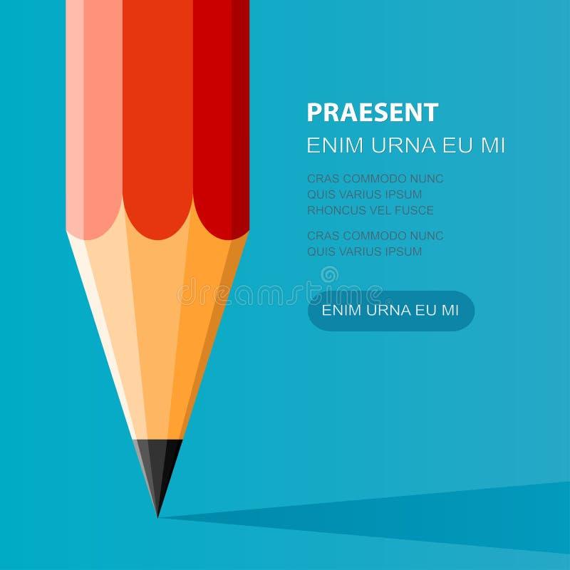 Стиль иллюстрации карандаша плоский Творческий старт бесплатная иллюстрация