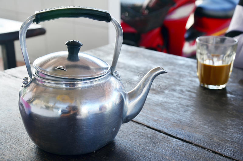 Стиль комплекта кофе тайский стоковое фото rf