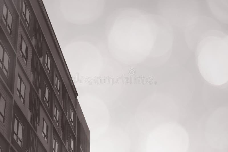 Стиль кондоминиума квартиры блока комнат картины на белой предпосылке с мечтательным расплывчатым светом bokeh стоковые изображения rf