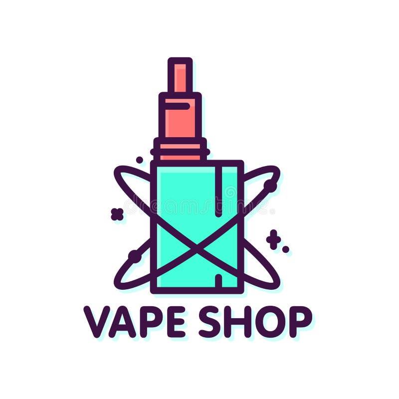 Стиль магазина Vape графический изолировал шаблон логотипа вектора бесплатная иллюстрация
