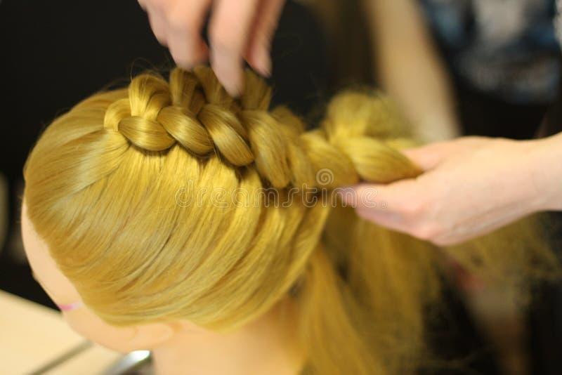 Стиль причёсок на манекене стоковые изображения