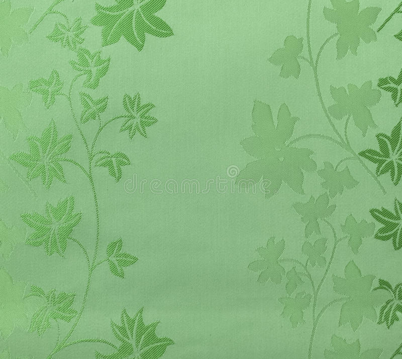 Стиль ретро предпосылки ткани зеленого цвета картины шнурка флористической безшовной винтажный стоковые фото