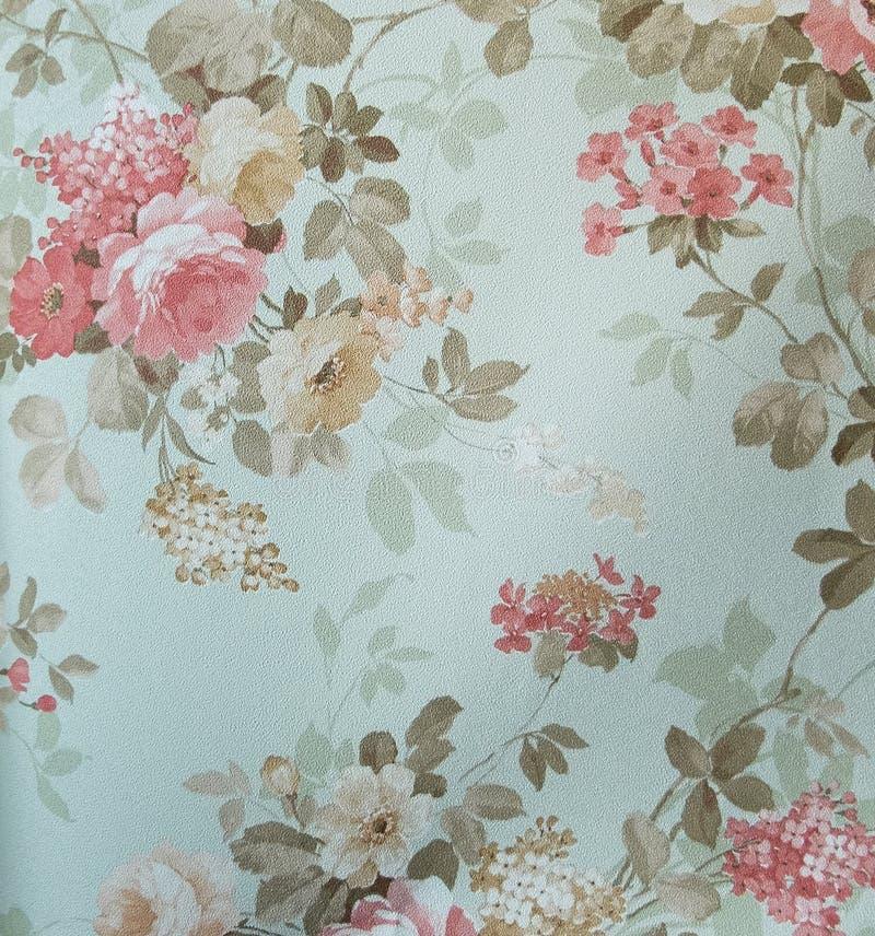 Стиль ретро предпосылки ткани картины шнурка флористической безшовной винтажный стоковые изображения rf