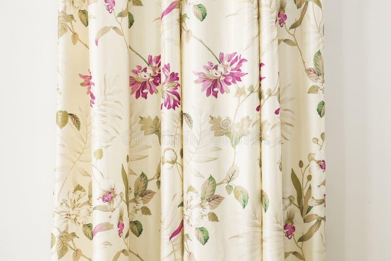 Стиль ретро предпосылки ткани цветочного узора винтажный стоковое изображение rf