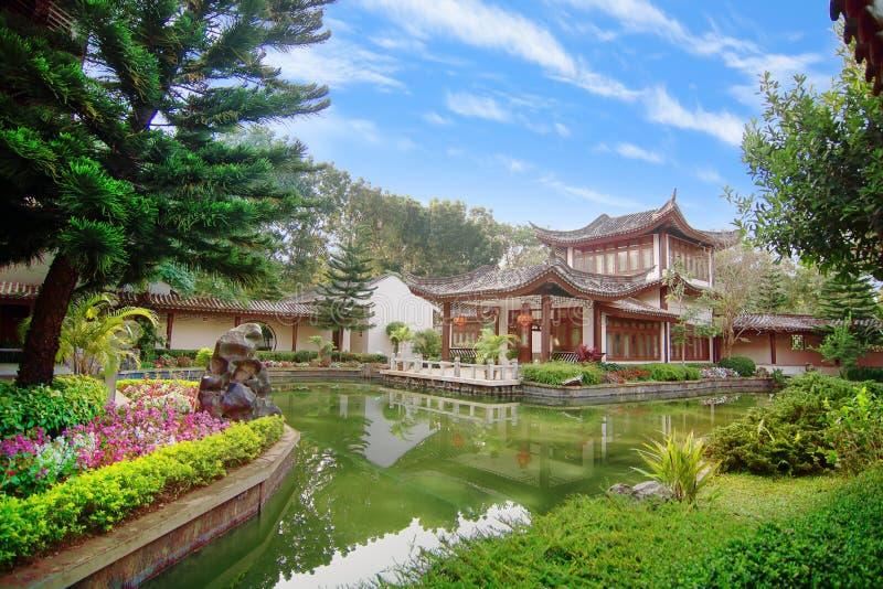 Стиль сада Yuyuan в Таиланде стоковое фото rf