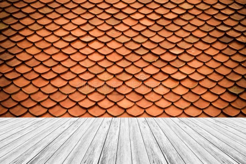 Стиль текстуры деревянные терраса и крыша плитки винтажный стоковая фотография rf