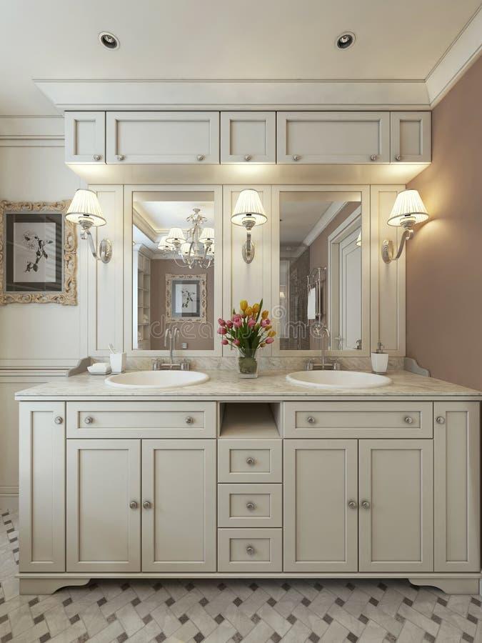 Стиль тщет ванной комнаты классический стоковые изображения