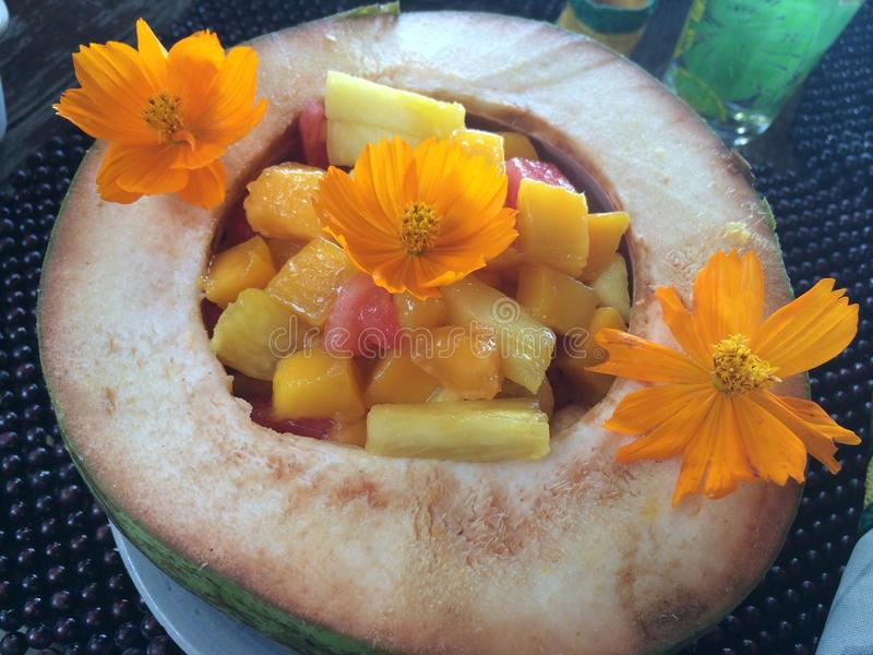Стиль фруктового салата филиппинский, остров Panglao, Bohol, Филиппины стоковые изображения rf