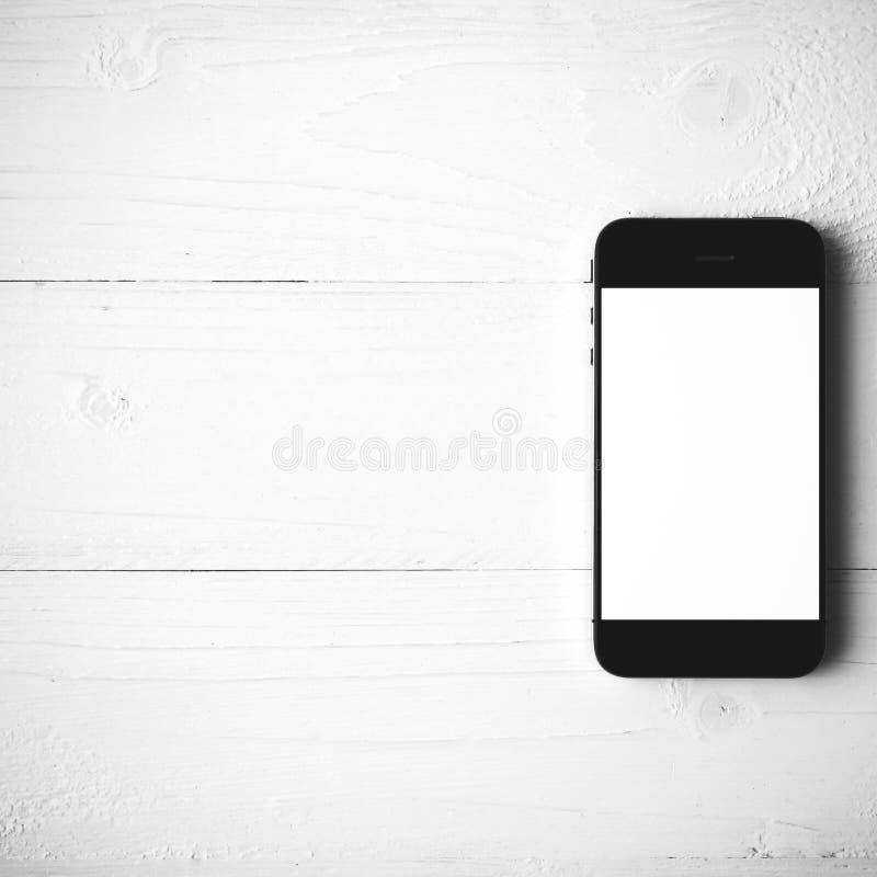 Стиль цвета мобильного телефона черно-белый стоковые фотографии rf