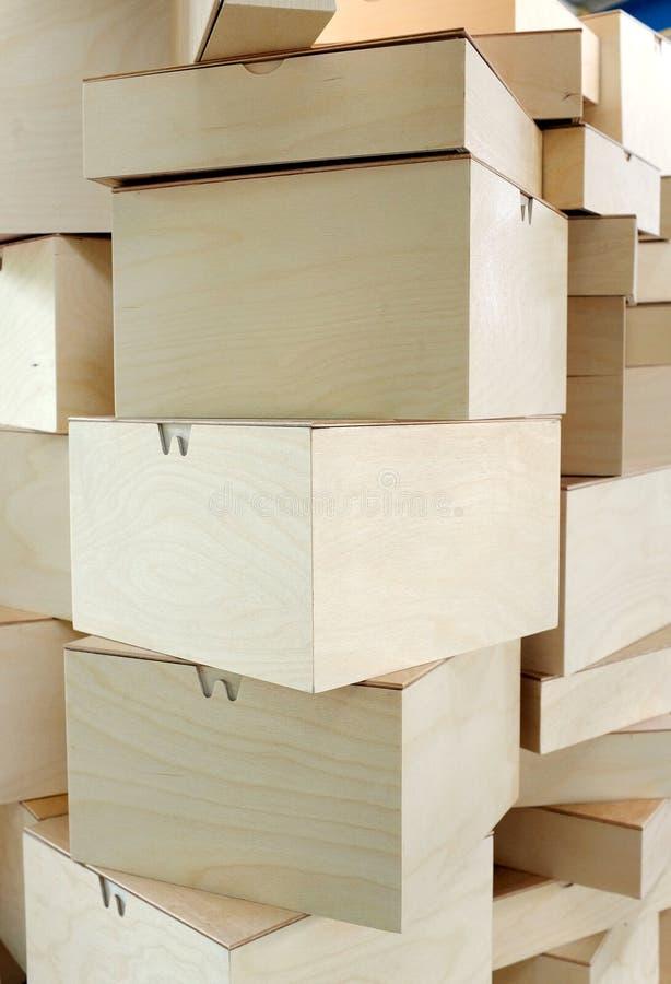 Стога картонных коробок стоковое фото rf