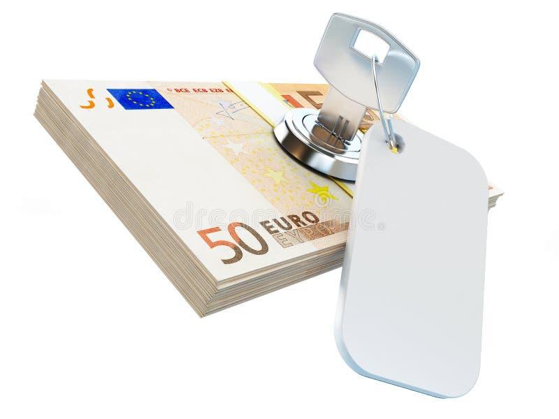 стога ключа евро иллюстрация вектора