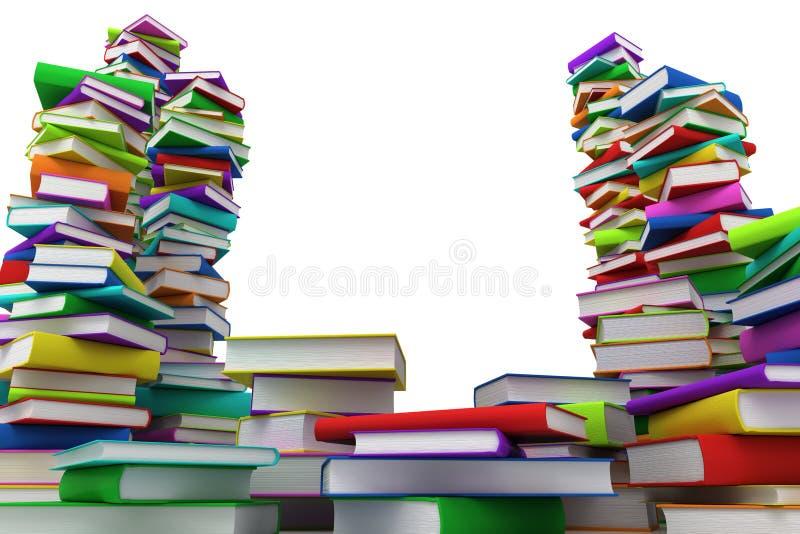 стога книг иллюстрация штока