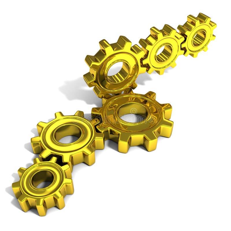 Стога колес шестерни металла иллюстрация вектора