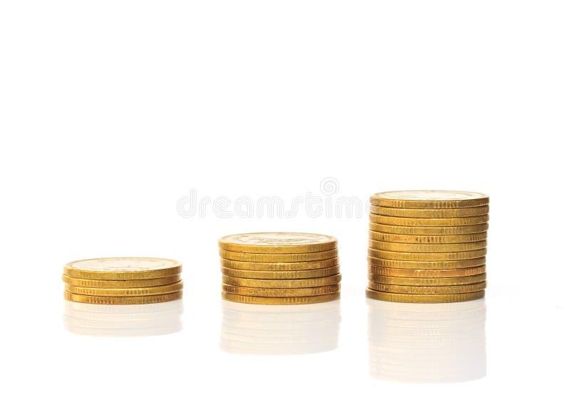Стога монетки стоковое изображение
