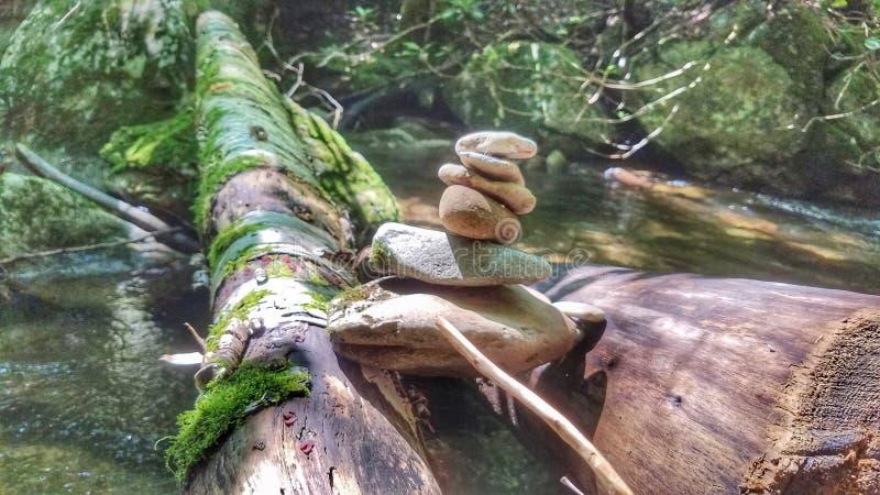 Стога утеса, скалистый парк штата вилки стоковая фотография rf
