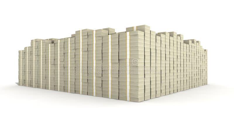 100 стогов долларовой банкноты стоковое изображение