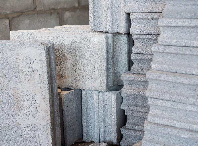 Стог блока цемента стоковая фотография rf