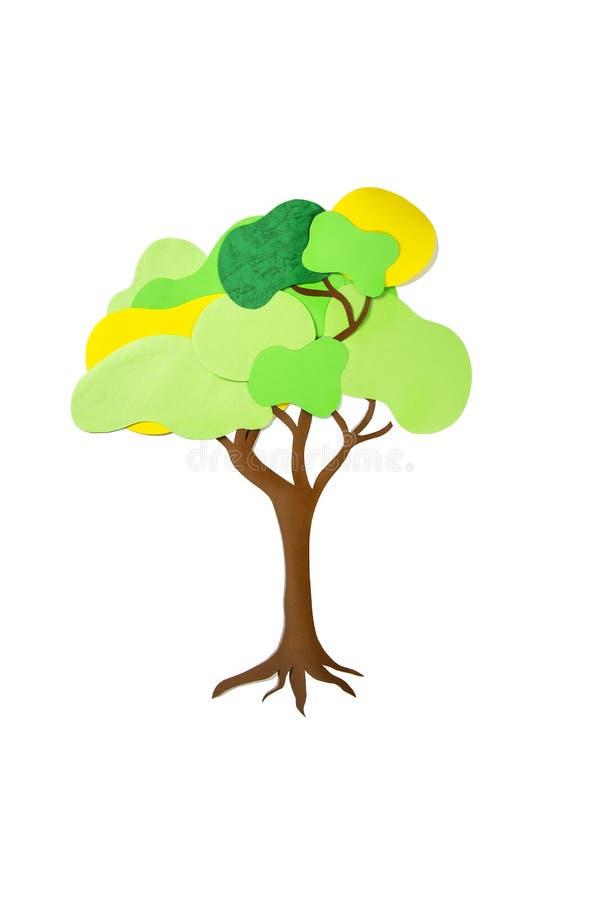 Стог бумаги цвета представляет дерево стоковые изображения rf