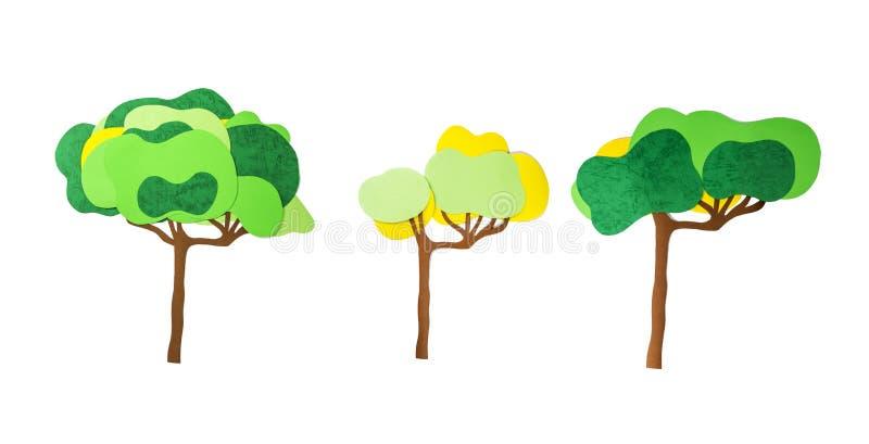 Стог бумаги цвета представляет деревья стоковое фото rf