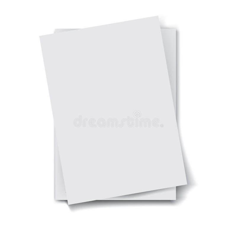 Стог бумаг иллюстрация вектора