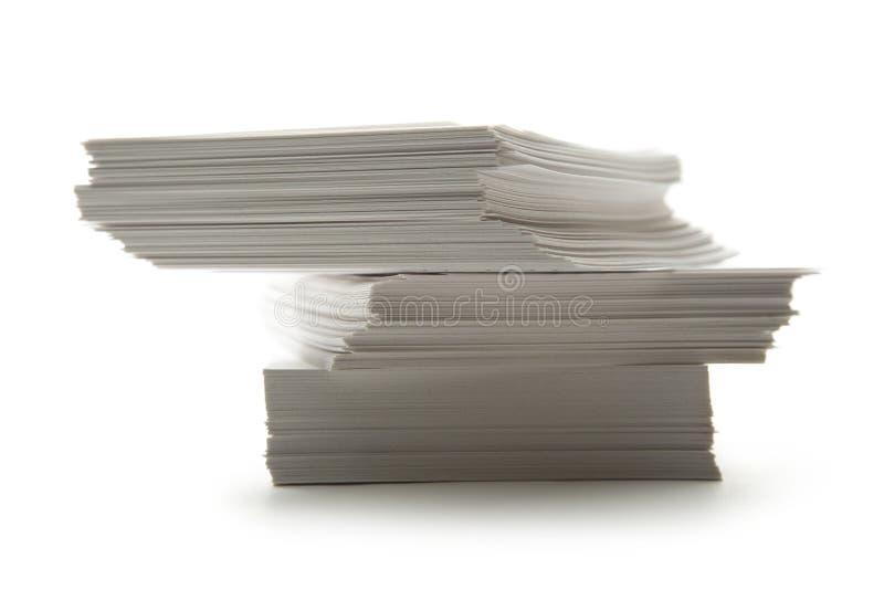 Стог бумажных карточек стоковая фотография