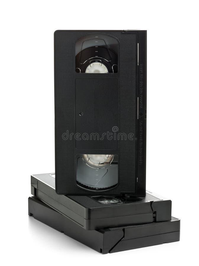 Стог видео- кассет кино домашней системы стоковое изображение rf
