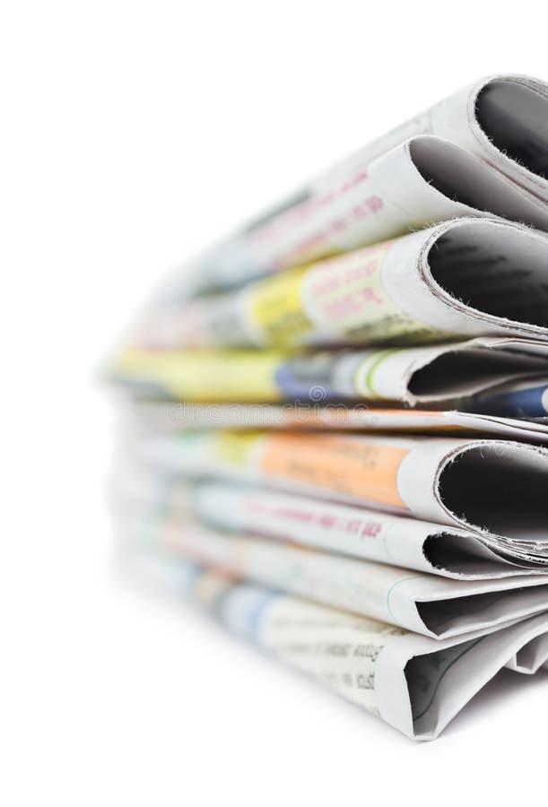 стог газет стоковое изображение