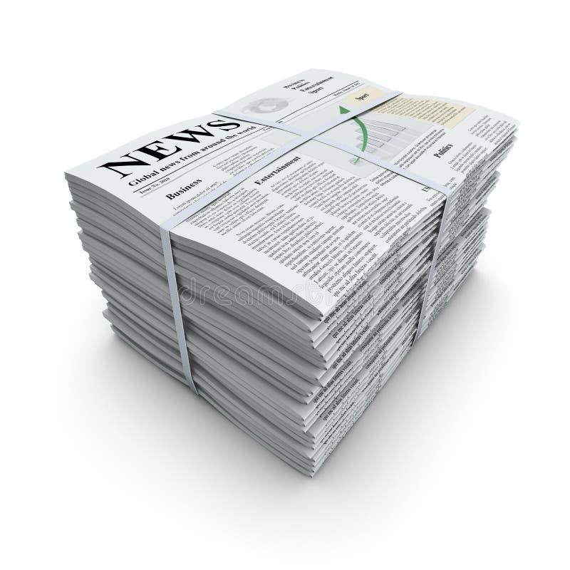 Стог газет иллюстрация вектора