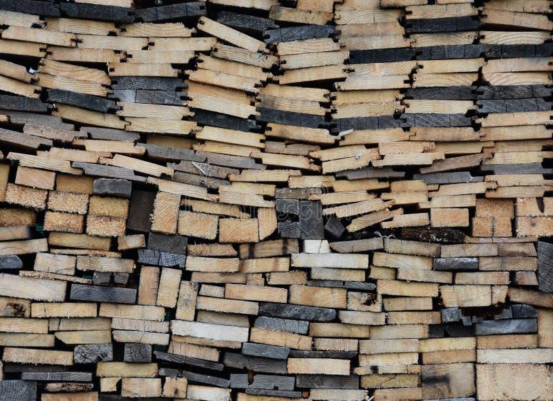 Стог древесины с различным fuelwood стоковая фотография