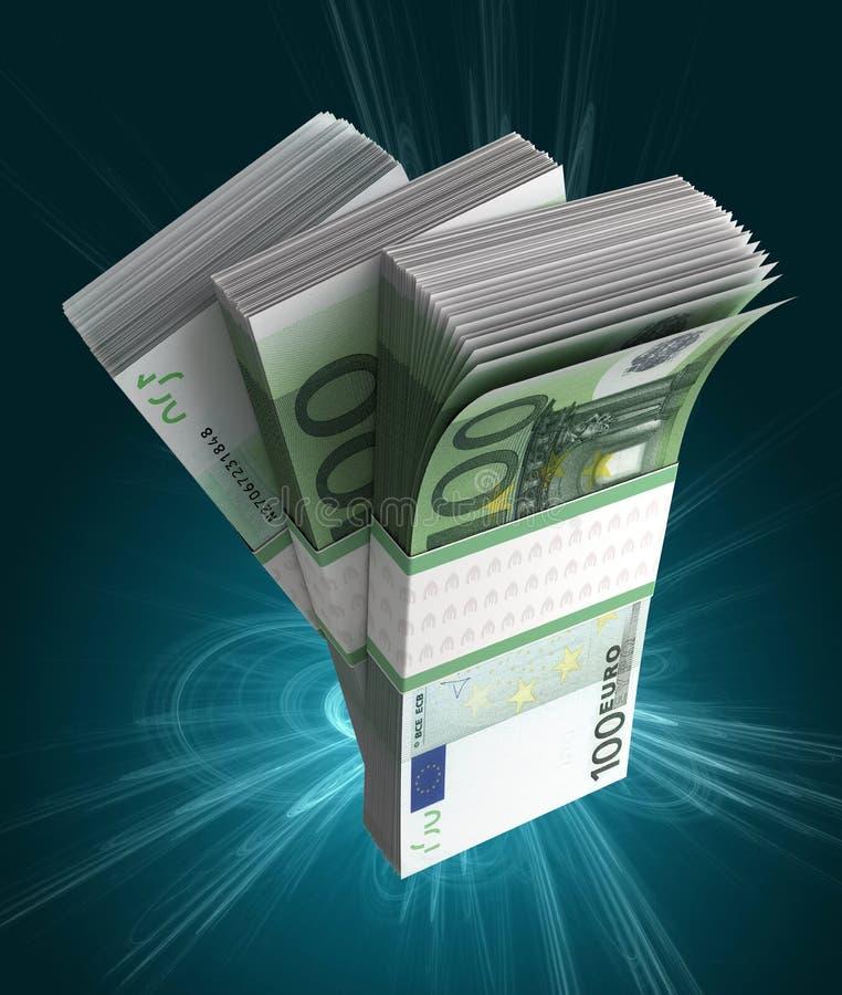 Стог европейского евро иллюстрация вектора