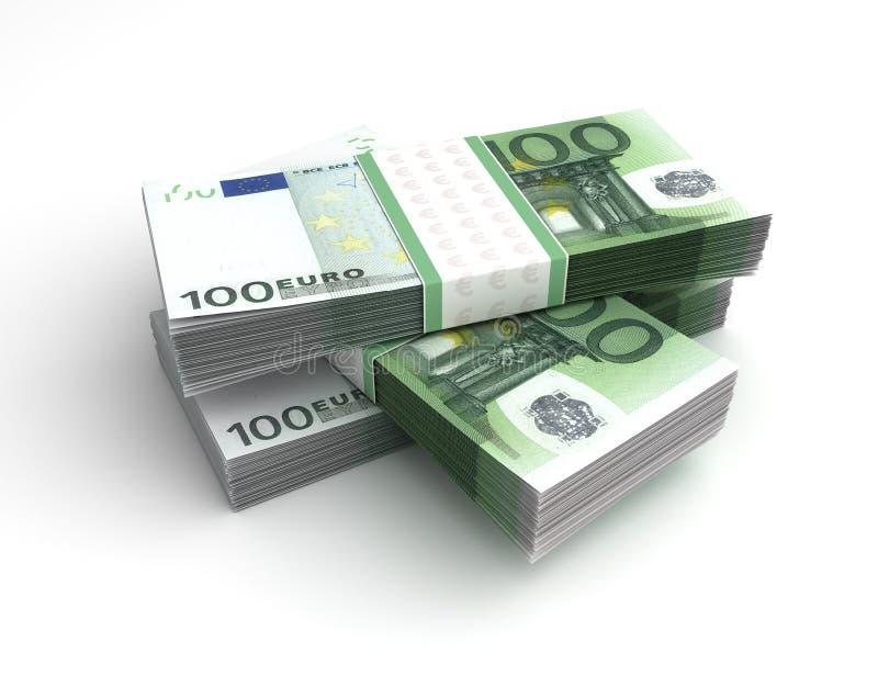 Стог евро иллюстрация штока