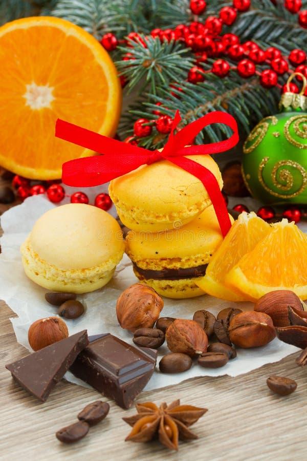Стог желтых печений для украшений рождества стоковое изображение rf