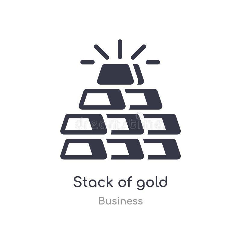 стог значка плана золота r editable тонкий стог хода значка золота дальше иллюстрация вектора