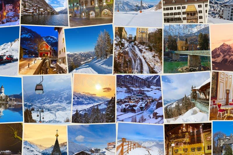 Стог изображений Австрии лыжи гор (мои фото) стоковые изображения