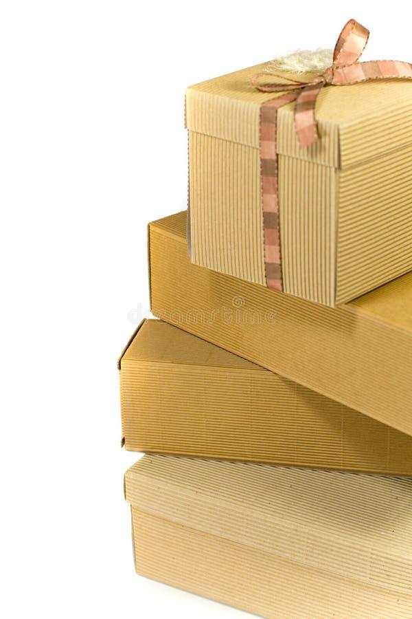 стог картона коробок стоковое изображение rf