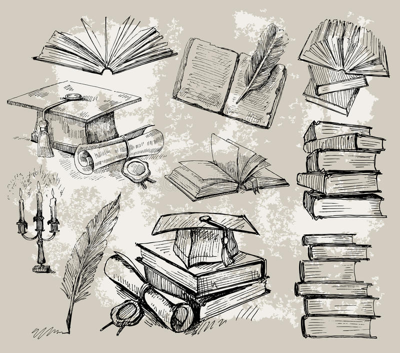 стог книг бесплатная иллюстрация