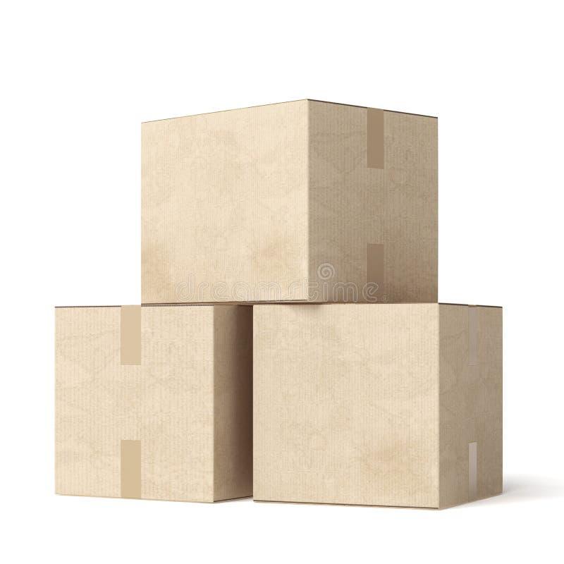 Стог коробок картона moving бесплатная иллюстрация