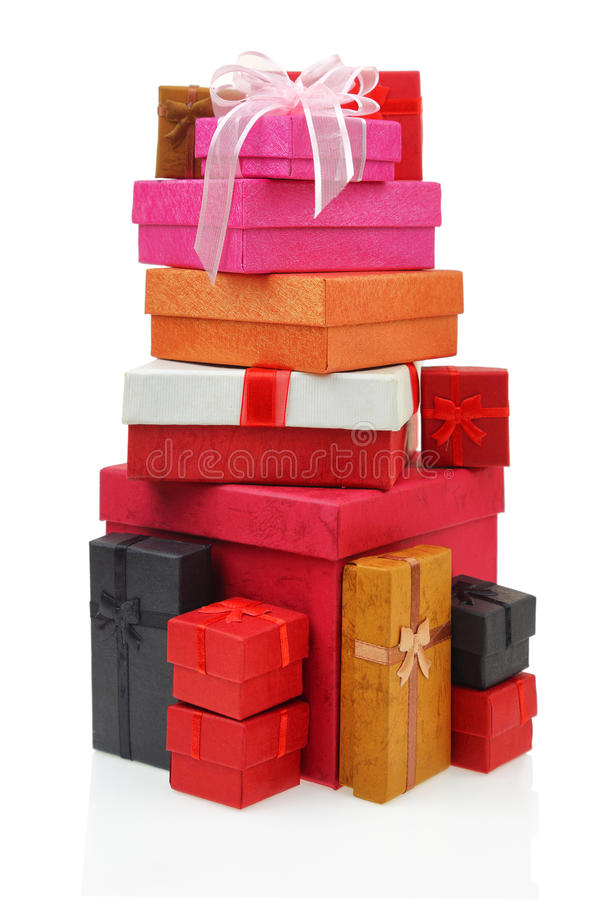 Стог коробок подарка стоковое фото