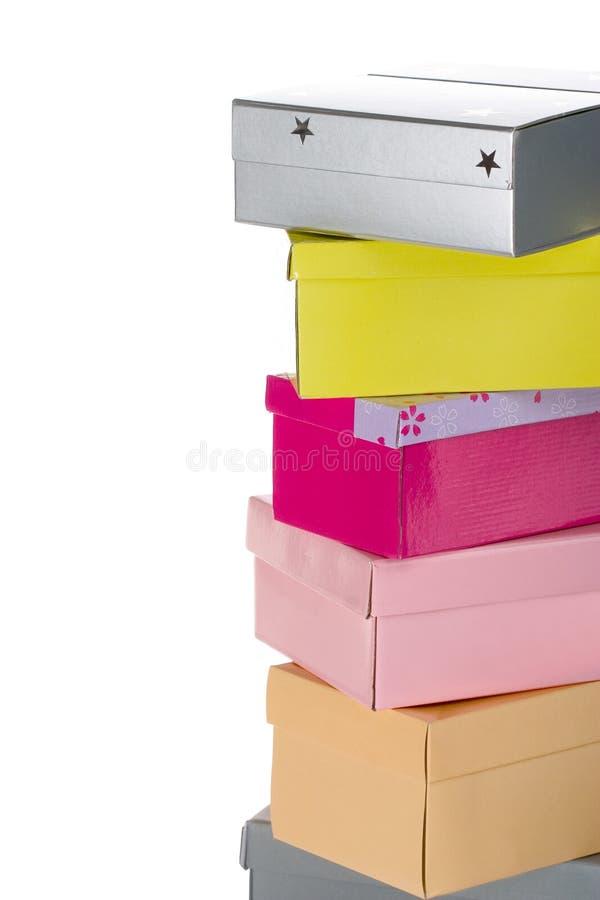 стог коробок стоковое изображение rf