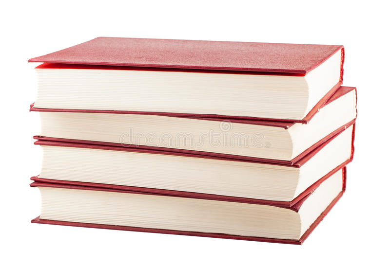 Стог красных книг крышки стоковая фотография rf