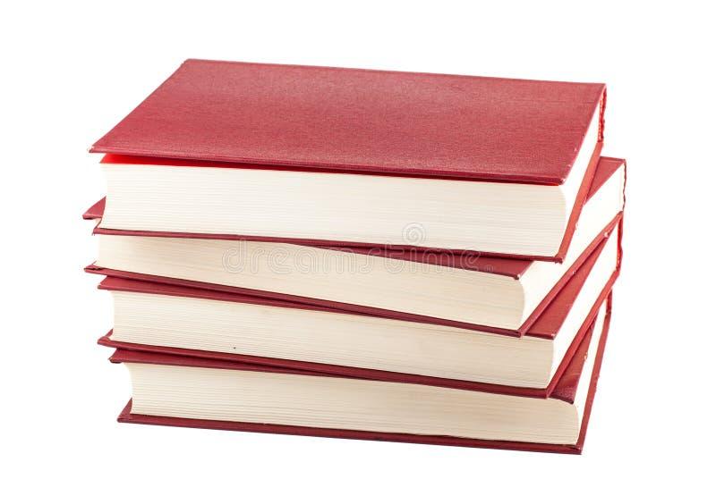Стог Красных книг стоковое изображение rf