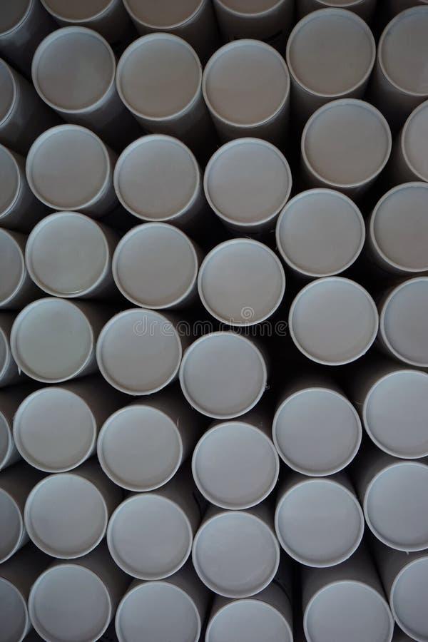 Стог круглой бумажной трубки стоковое изображение rf