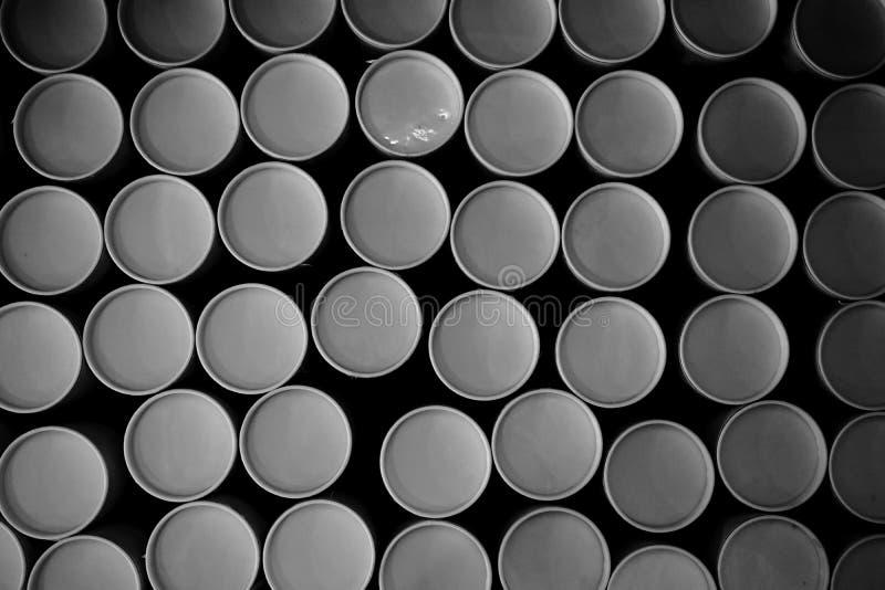 Стог круглой бумажной трубки стоковые изображения rf