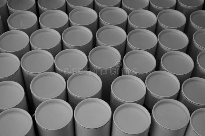 Стог круглой бумажной трубки стоковые фото