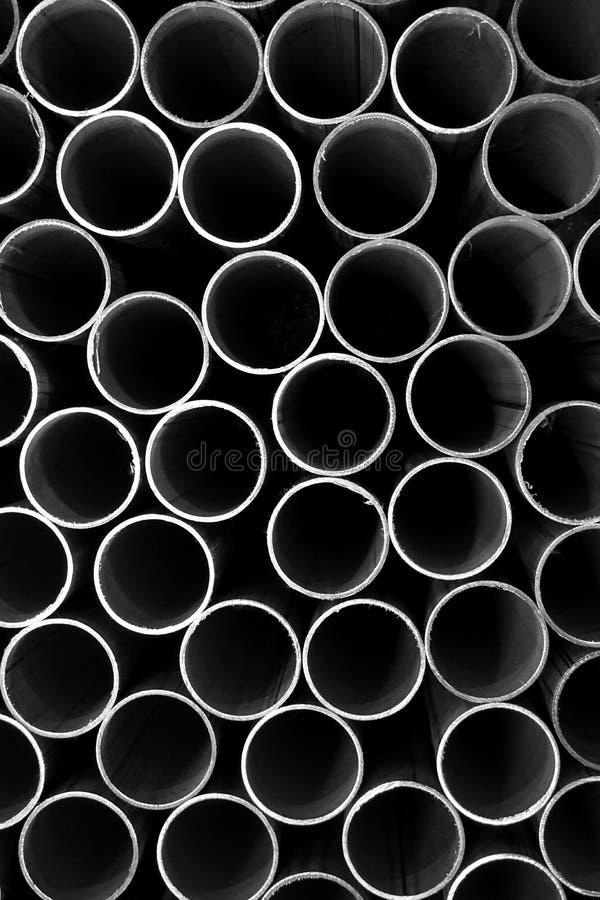 Стог круглой трубки металла стоковые фотографии rf