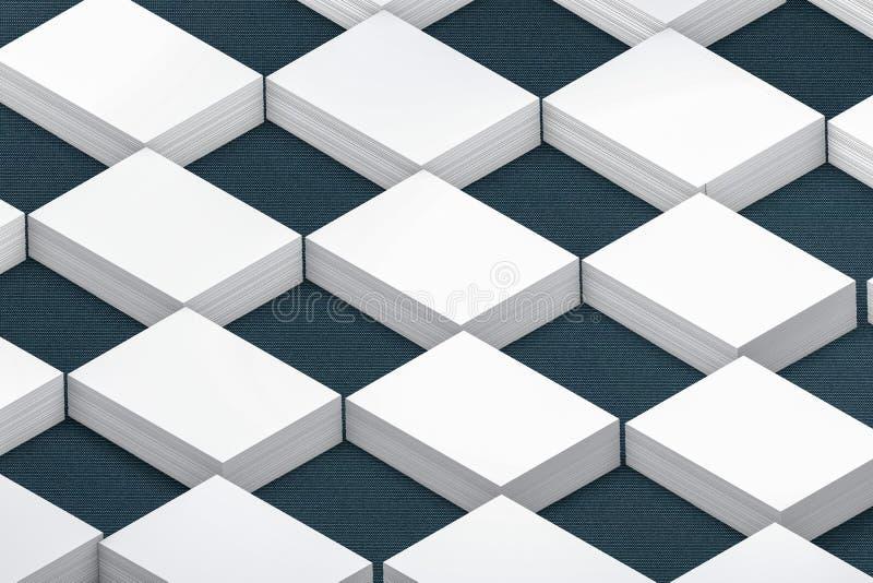 Стог много карточек бумажного шаблона к представлению иллюстрация штока