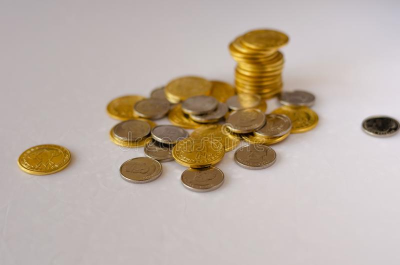 Стог монеток стоковое изображение rf