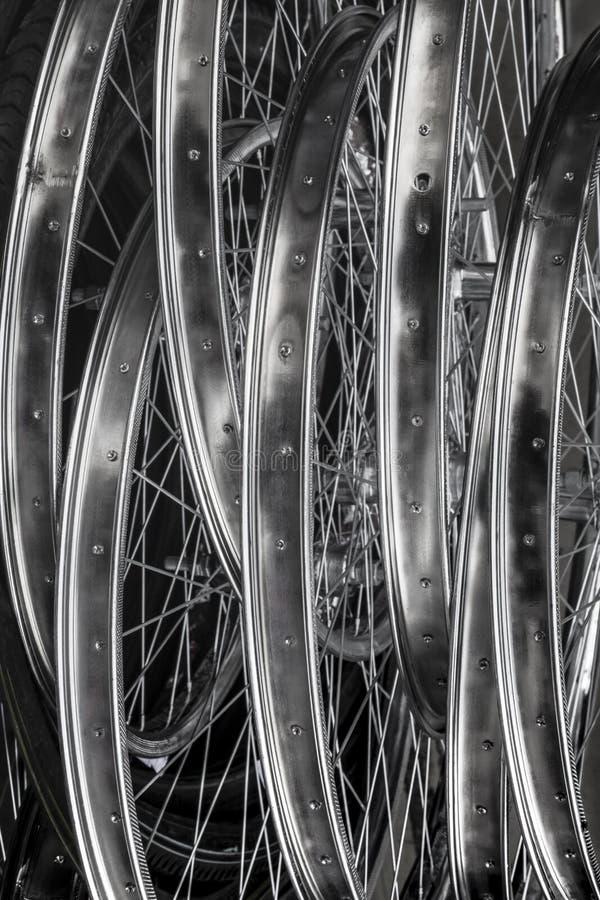 Стог оправ колеса велосипеда стоковые изображения rf