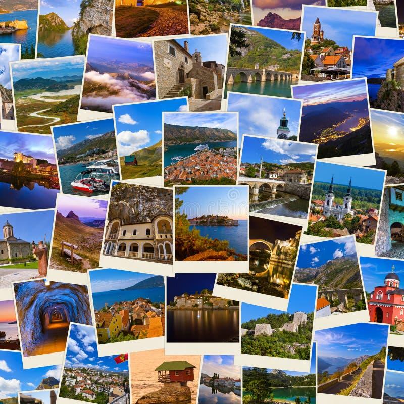 Стог перемещения Черногории и Боснии отображает мои фото стоковое фото