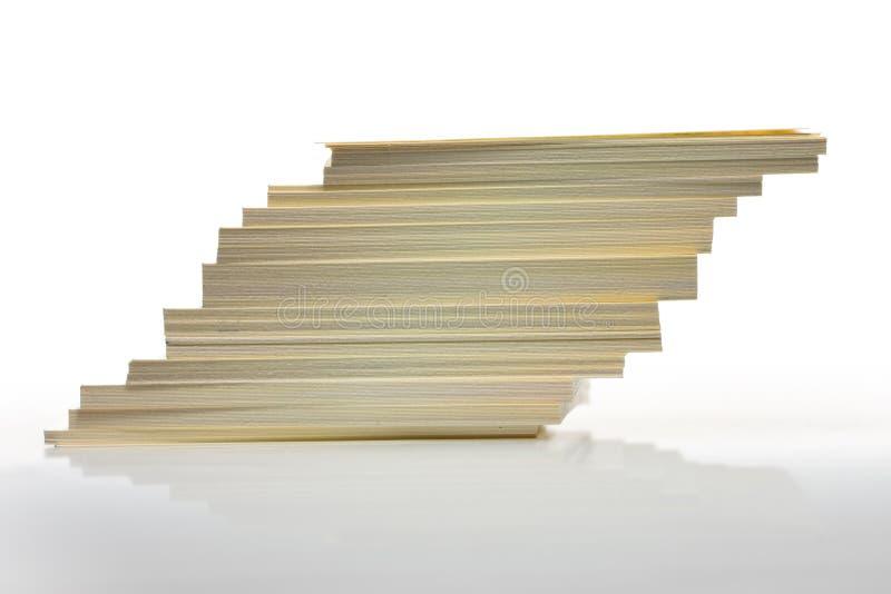 стог перенесенный карточками стоковое изображение rf